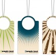 Cool retro design hanging label set — Vektorgrafik