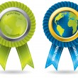 Worldwide guarantee badges — Imagen vectorial