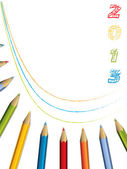 2013 brochure design with pencils — Stock Vector