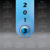 2013 label calendar with dark background — Stock Vector