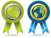 Worldwide guarantee badges — Stock Vector