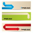 New banner set with origami paper arrows — Stock Vector