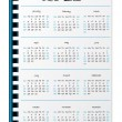 Stock Vector: Hand written 2013 calendar on notepaper