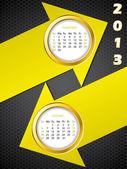 Calendario 2013 di freccia per settembre e ottobre — Vettoriale Stock