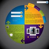 Cool nouveau modèle de site web rotateable — Vecteur