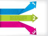 Etykieta origami z tekstu — Wektor stockowy