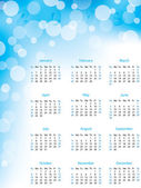 Abstract bubble 2013 calendar — Stock Vector