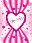 Pink valentine greeting card design — Stock Vector