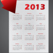 Royalty-Free Stock Vector Image: 2013 calendar design with bending arrow