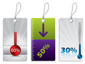 Shopping label set — Stock Vector