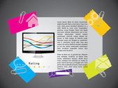 Conception de modèle de site web avec produit — Vecteur