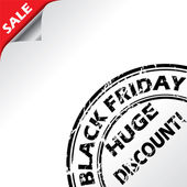Black friday advertising with grunge seal — Stock Vector