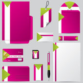 Stationary business set with personalized objects — Stockvector