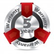 Stock Vector: 5 year warranty badge design