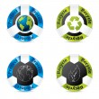 Eco badge set - Imagen vectorial