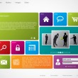 Royalty-Free Stock Imagem Vetorial: Website template with large icons