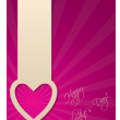 Valentine greeting card with heart label — Vector de stock #18780585