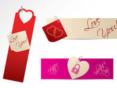 Love banners for Valentine day — Stock Vector