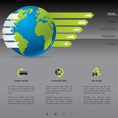Travel website template — Stock Vector