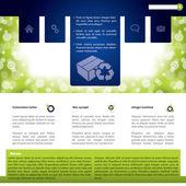 Diseño de plantillas web colorido con productos — Vector de stock
