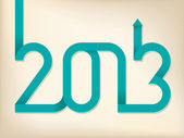 2013 arrow text — Stock Vector