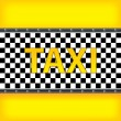 Royalty-Free Stock Vector Image: Yellow background with taxi pattern
