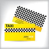 Business card taxi design — Stock Vector