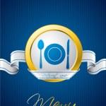 blauwe menu brochureontwerp — Stockvector