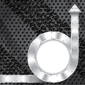 Metalliska bakgrund med textbehållare — Stockvektor