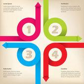 Novo design de infográfico — Vetor de Stock