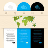 Label design website template — Stock Vector
