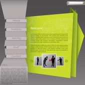 Création d'origami style site modèle — Vecteur