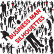 Royalty-Free Stock Vector Image: Business man silhouettes