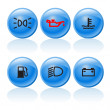 Web buttons 3 — Stock Vector
