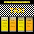 Taxi company website template — Stock Vector