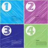 Stationary scribbled paper design set — Stock Vector
