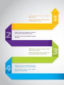 Origami papel flecha infografía diseño — Vector de stock