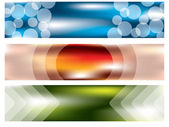 Banner set of three with cool effects — Stock Vector