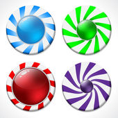 Swirling button design set — Vector de stock