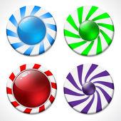Tourbillonnant ensemble de conception de bouton — Vecteur