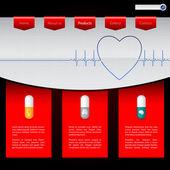 дизайн шаблона сайта аптеки — Cтоковый вектор