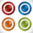 Royalty-Free Stock Vector Image: Glossy buttons with various icons