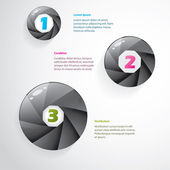 Cool infographic with shutter design — Stock Vector