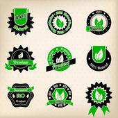 Bio badge ontwerpset — Stockvector