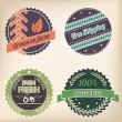 Stock Vector: Retro organic badge set