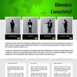 Website design template for business — Image vectorielle