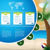 夏季假日网站模板设计 — 图库矢量图片