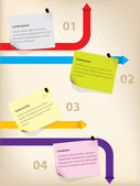 Business infographics with notes — 图库矢量图片