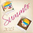 Cool summer wallpaper with pictures — Stock Vector
