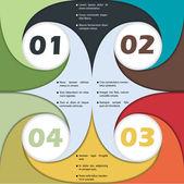 Abstrakt virvlande infographics design — Stockvektor